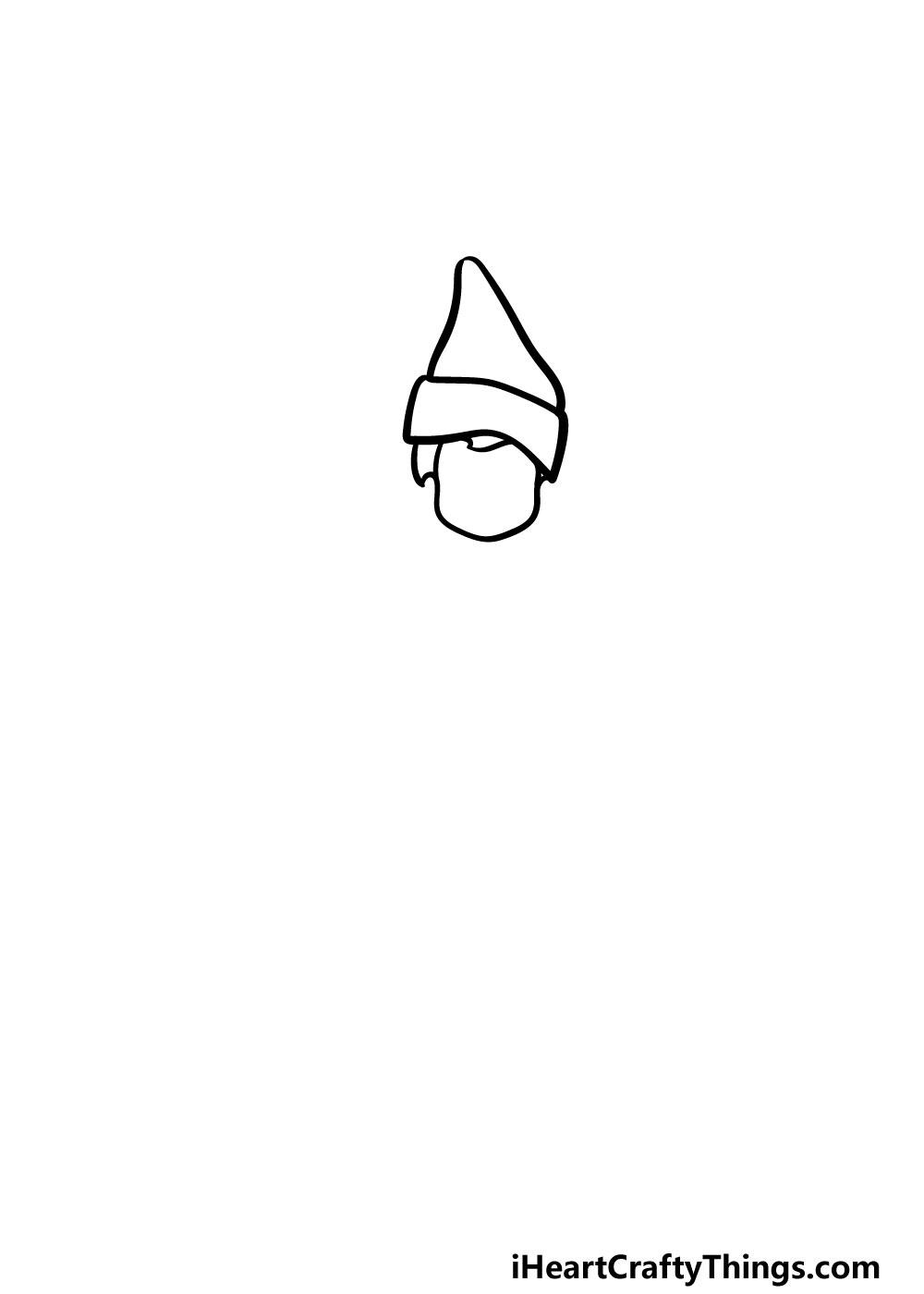 drawing an elf on a shelf step 1