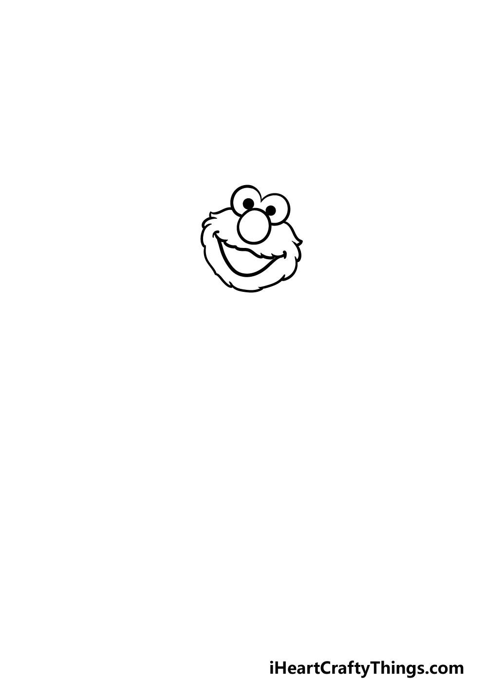 drawing elmo step 1