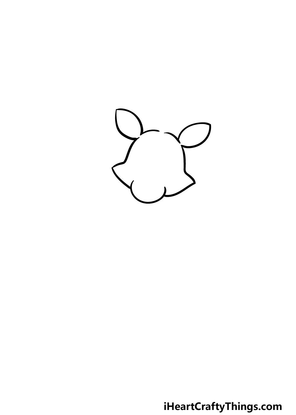 drawing foxy step 1