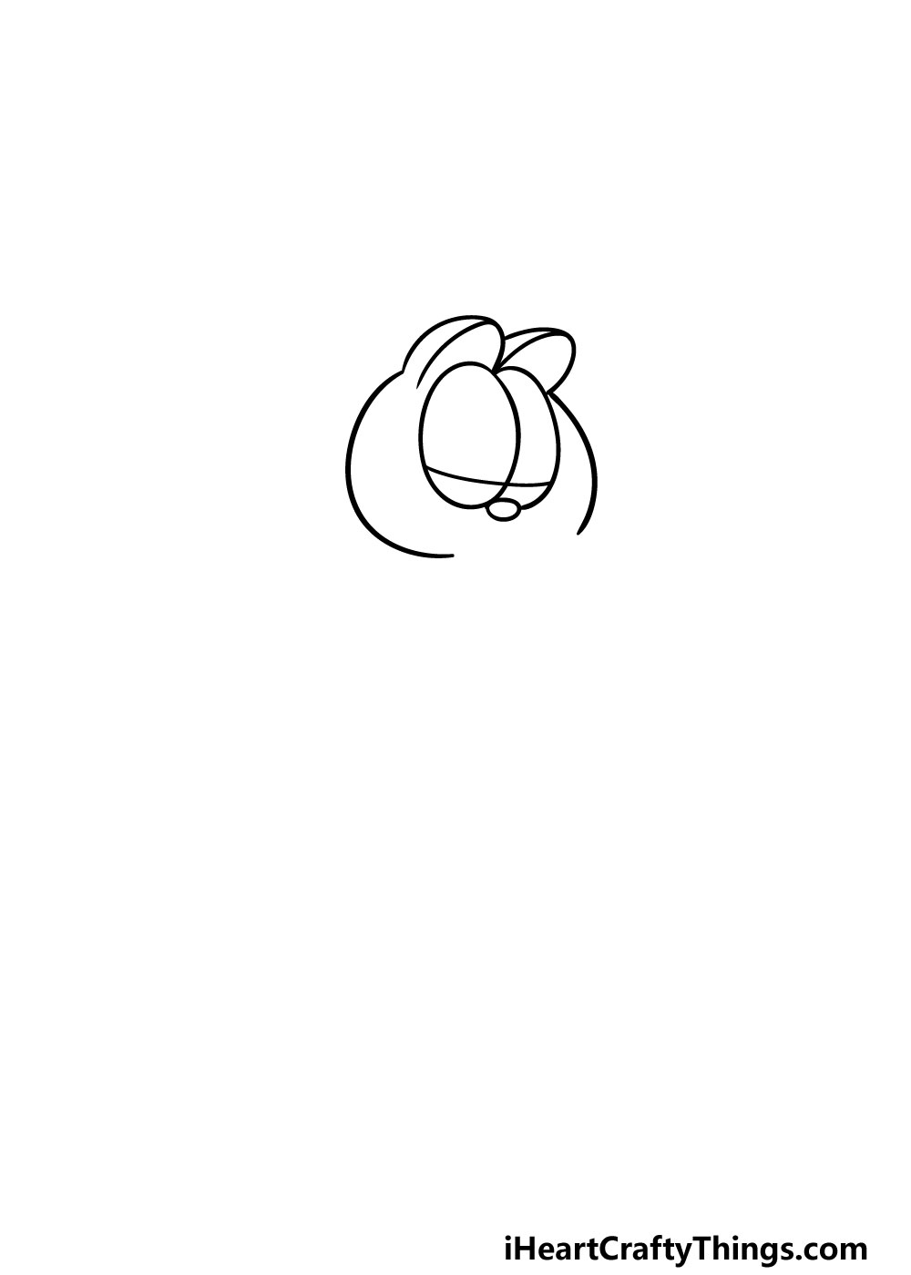 drawing Garfield step 1