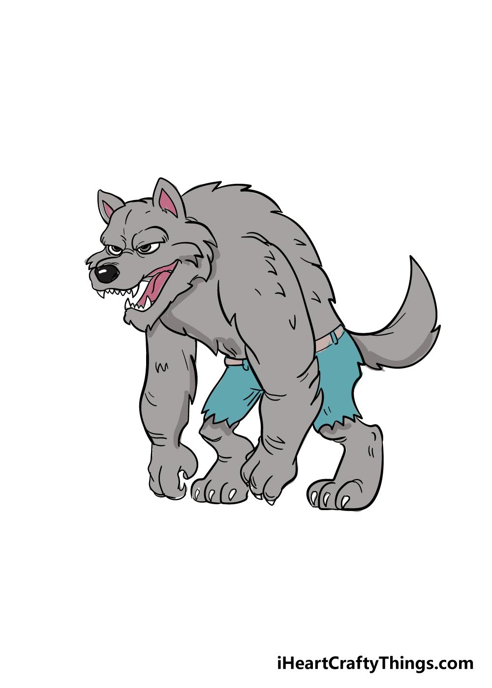 werewolf drawing step 10