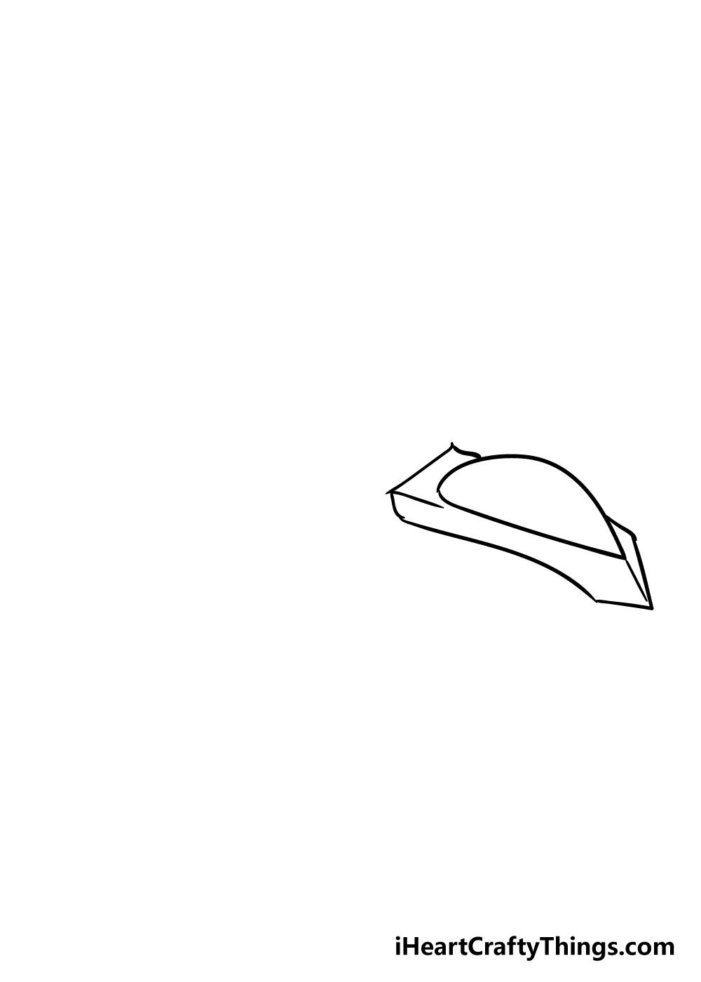 spaceship drawing step 2