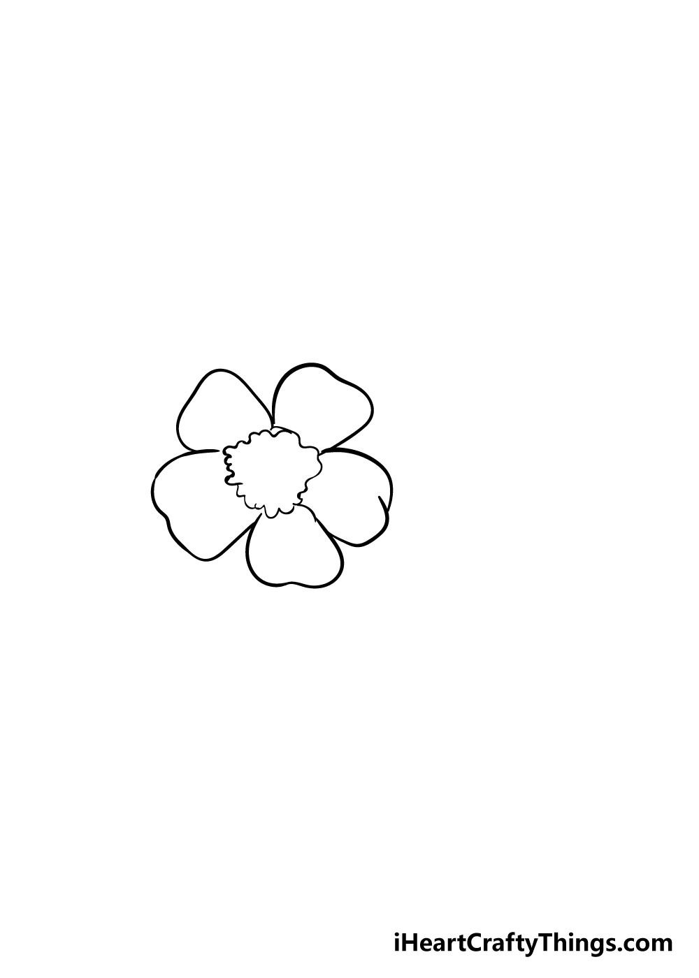 cherry blossoms drawing step 2