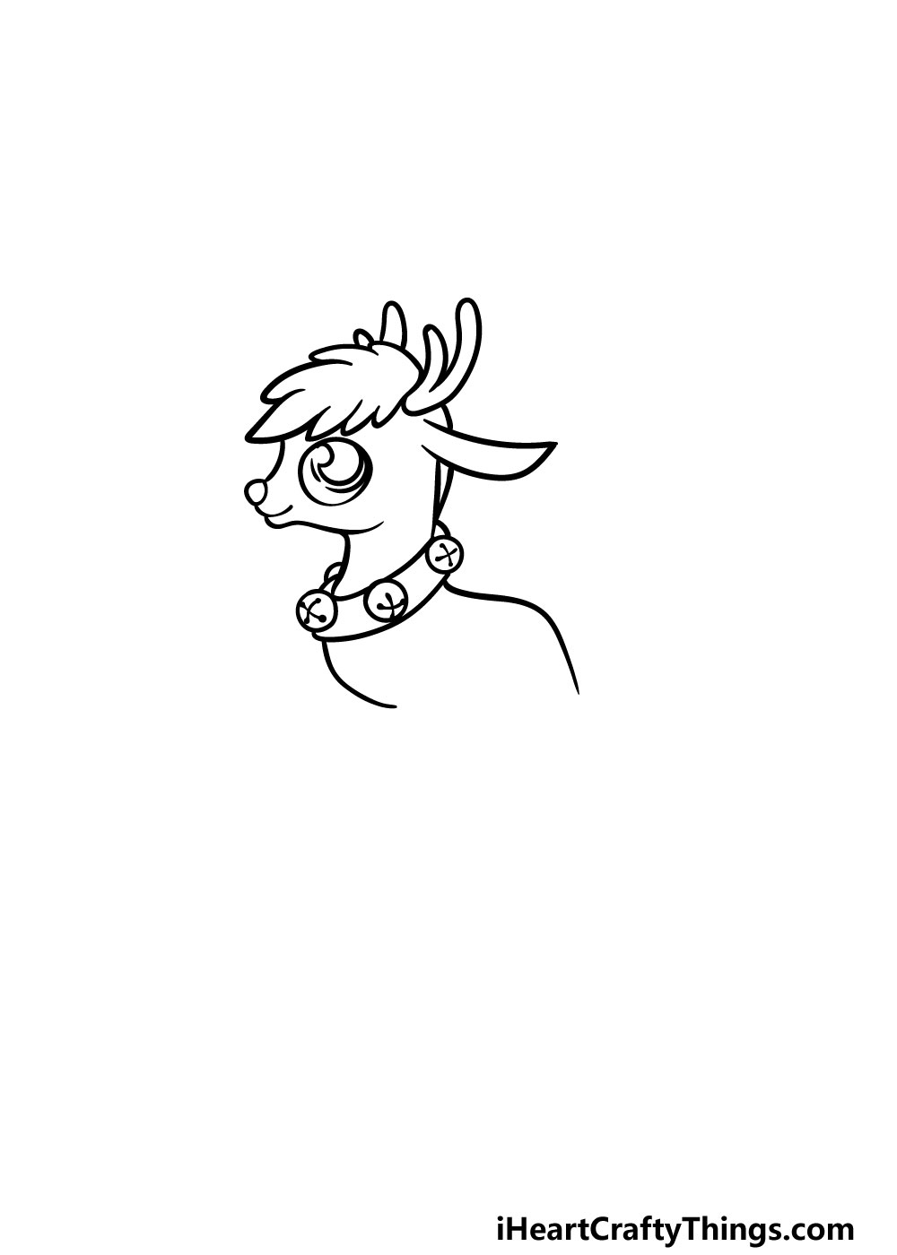 drawing Rudolph step 2