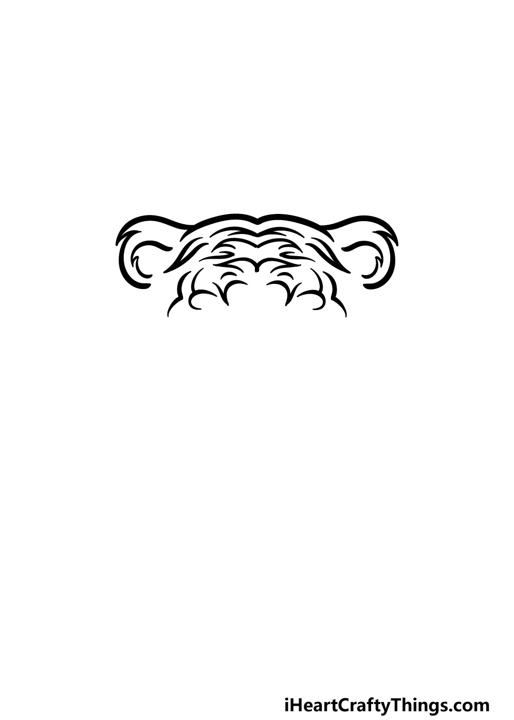 drawing tiger face step 2