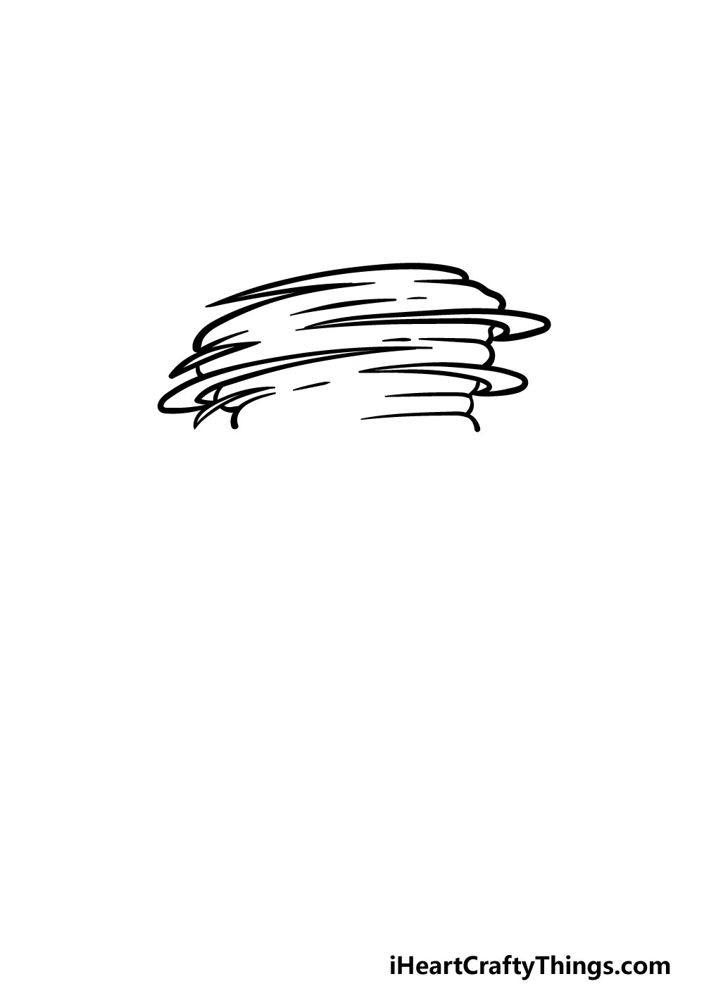 drawing a tornado step 2