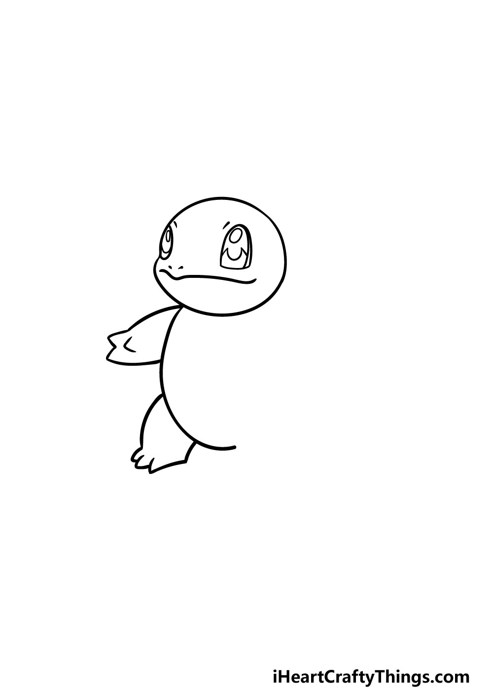 drawing squirtle step 2