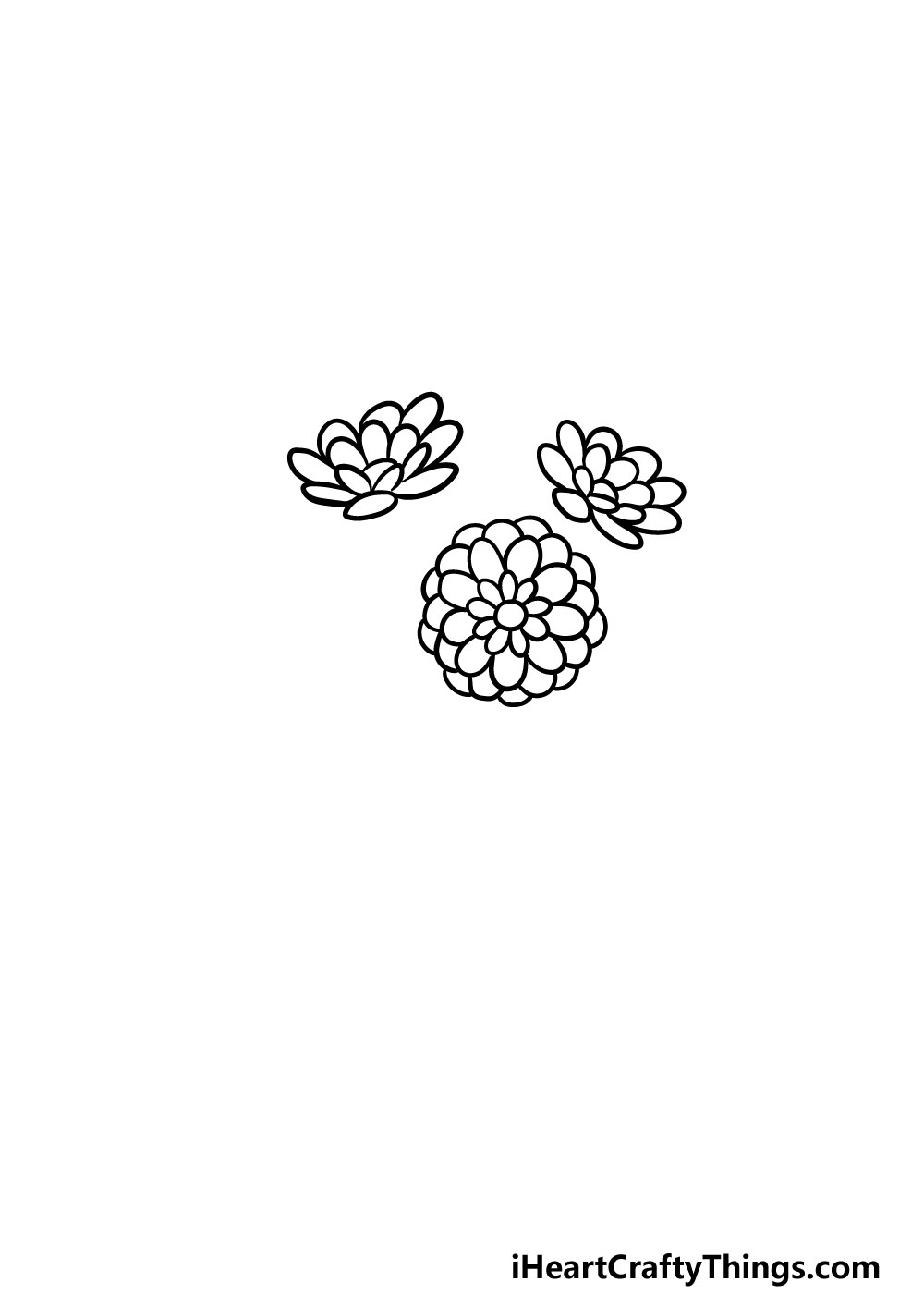 drawing a bouquet of flowers step 2