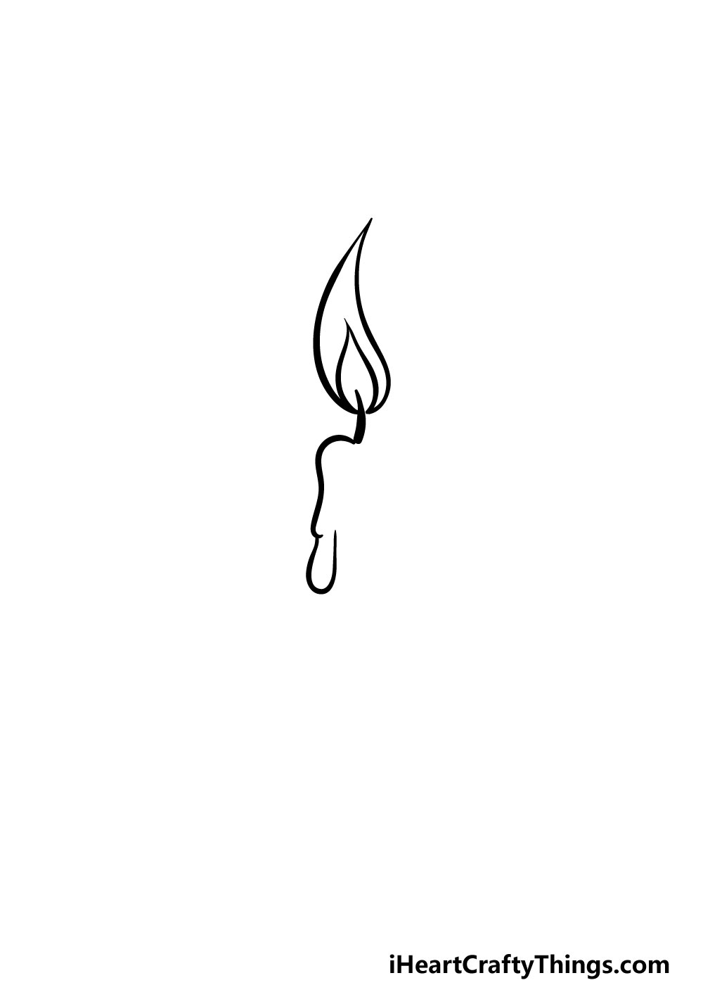 drawing a candle step 2