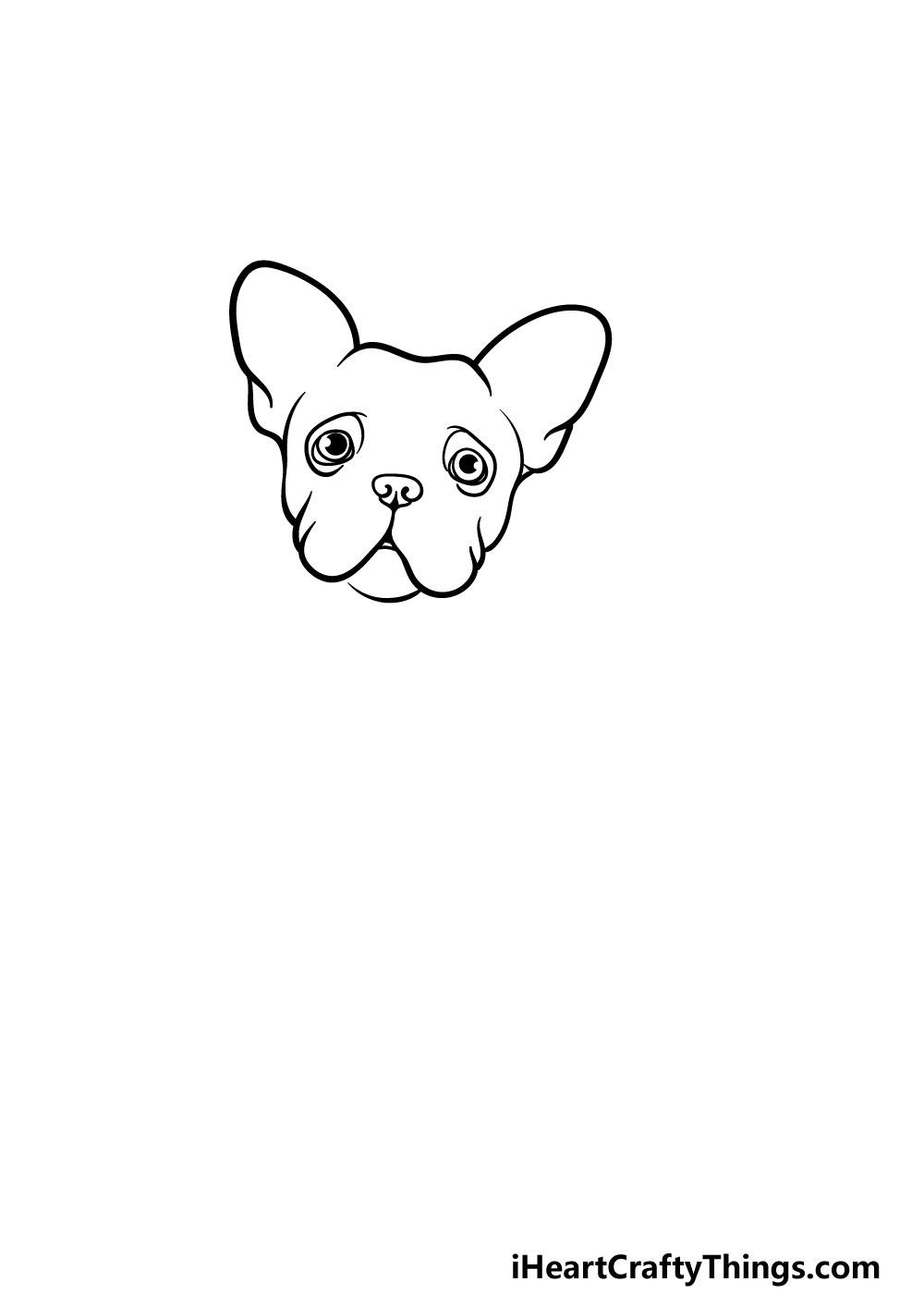 drawing a french bulldog step 2