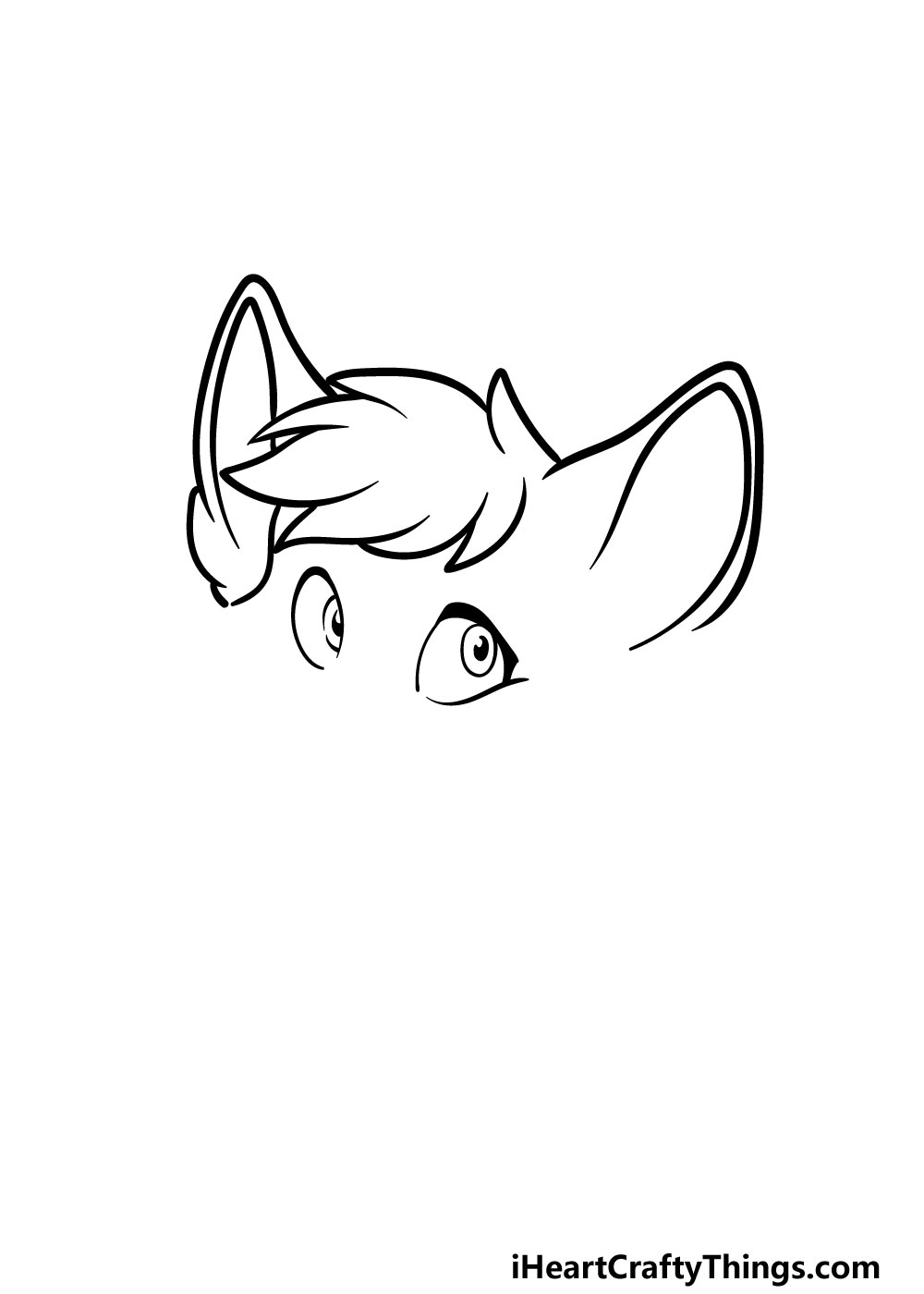 drawing a furry head step 2