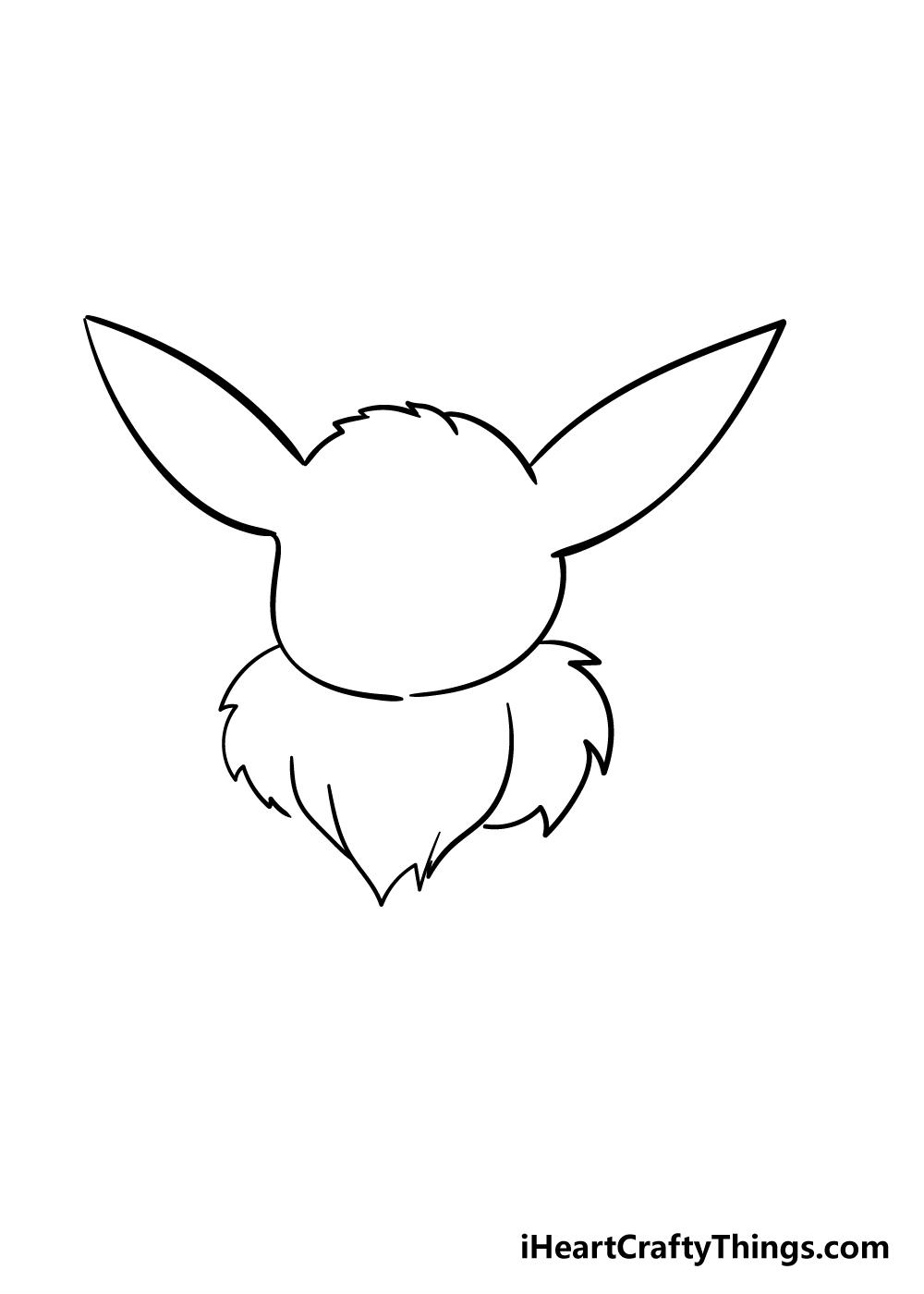 eevee drawing step 2