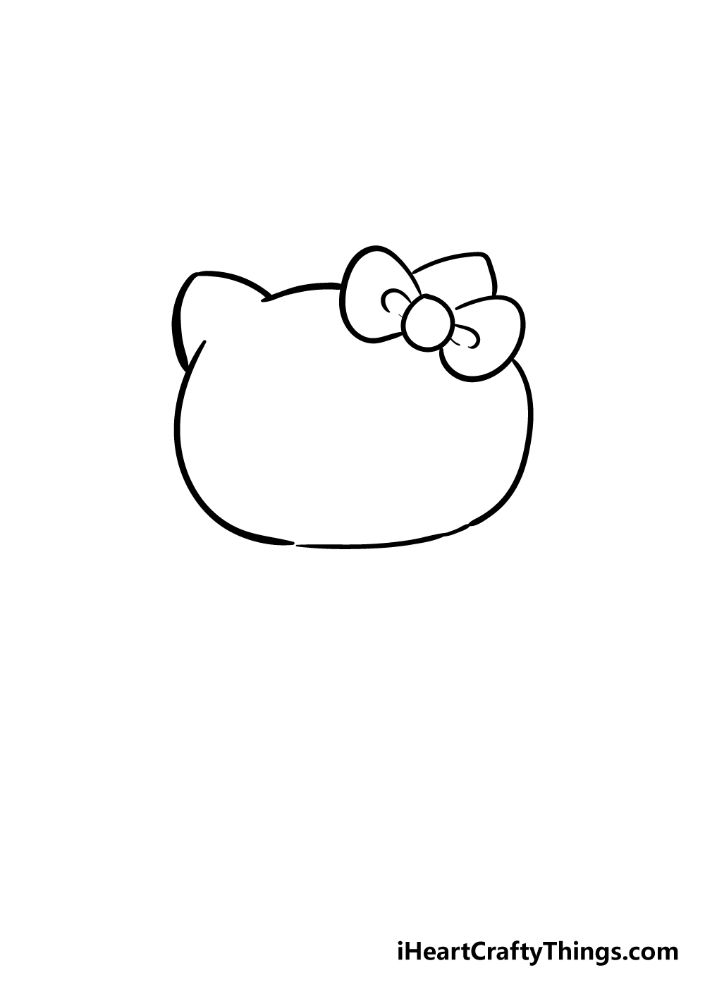 hello kitty drawing step 2