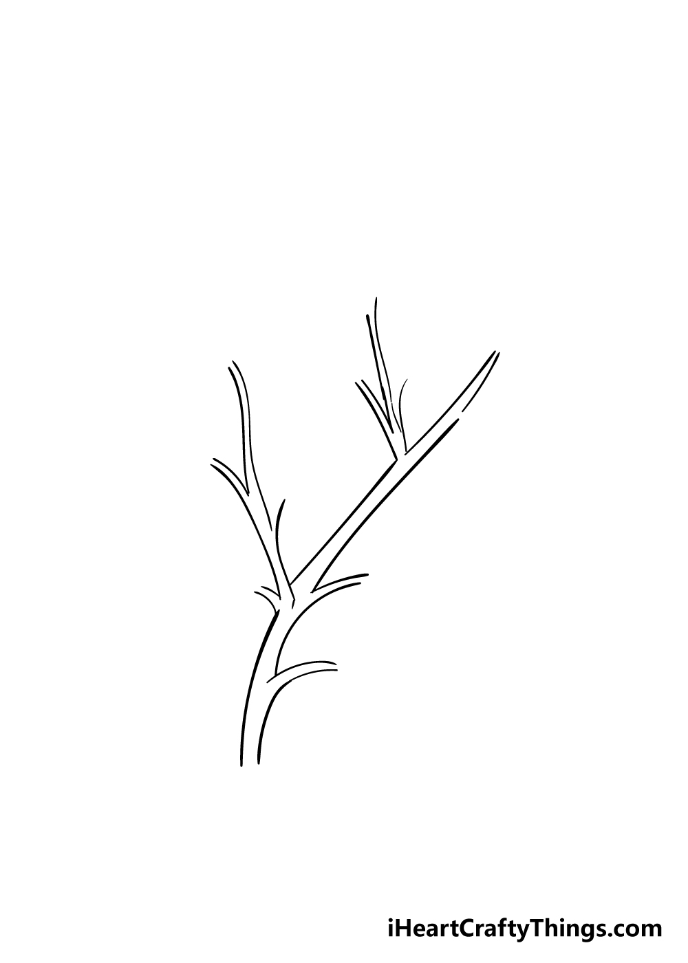 leaves on a tree drawing step 2