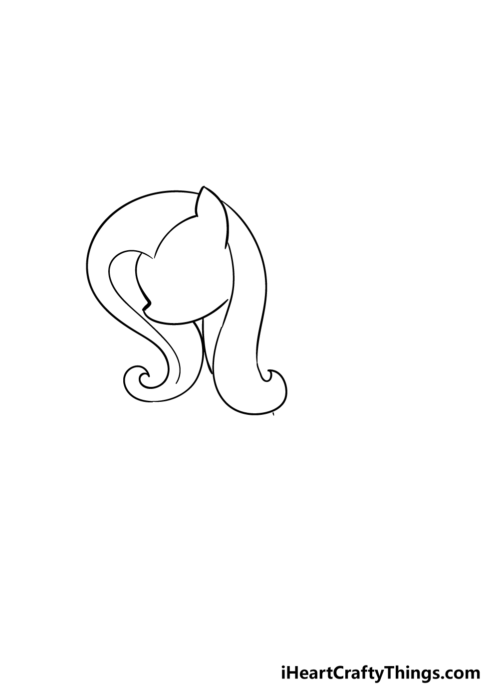 my little pony drawing step 2