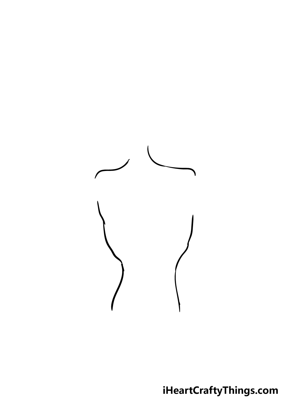 Siren Head drawing step 2