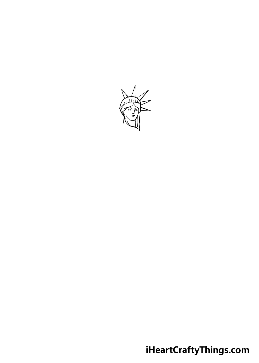 drawing the Statue of Liberty step 2