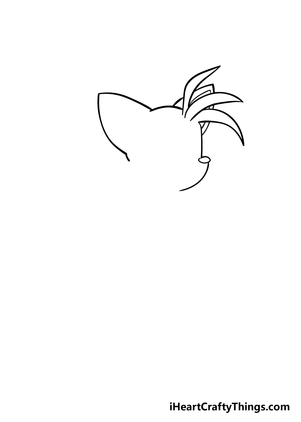 tails drawing step 2