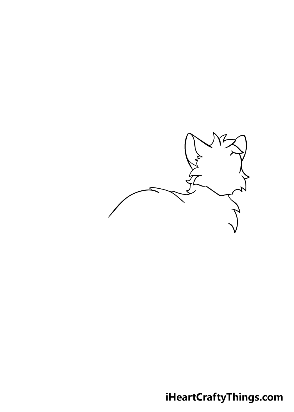 warrior cats drawing step 2