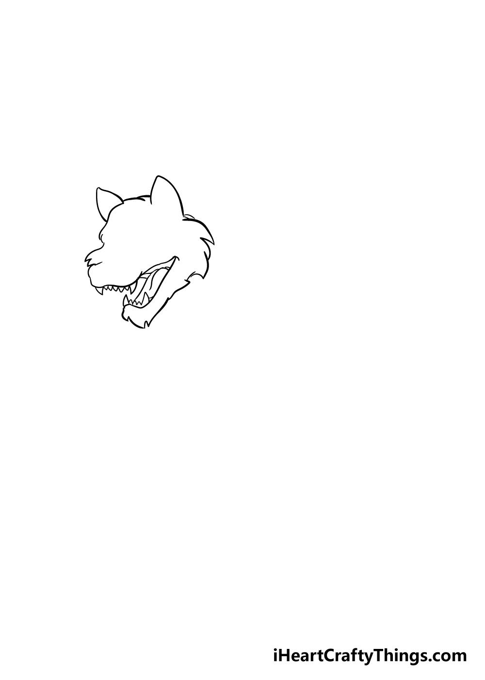 werewolf drawing step 2