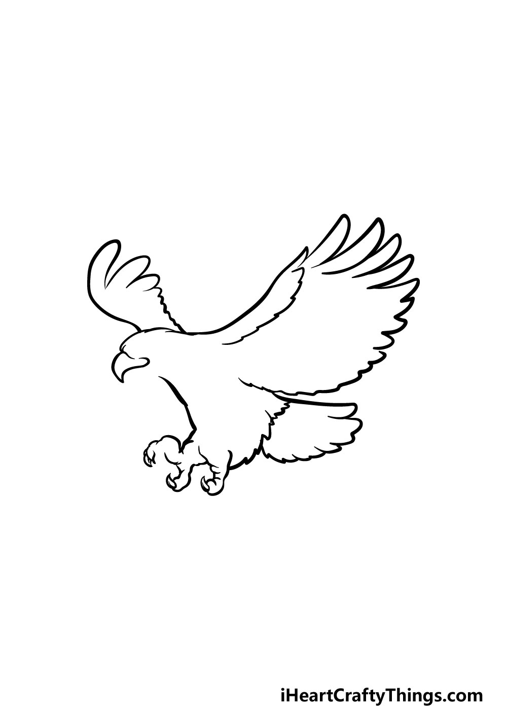 bald eagle drawing step 2