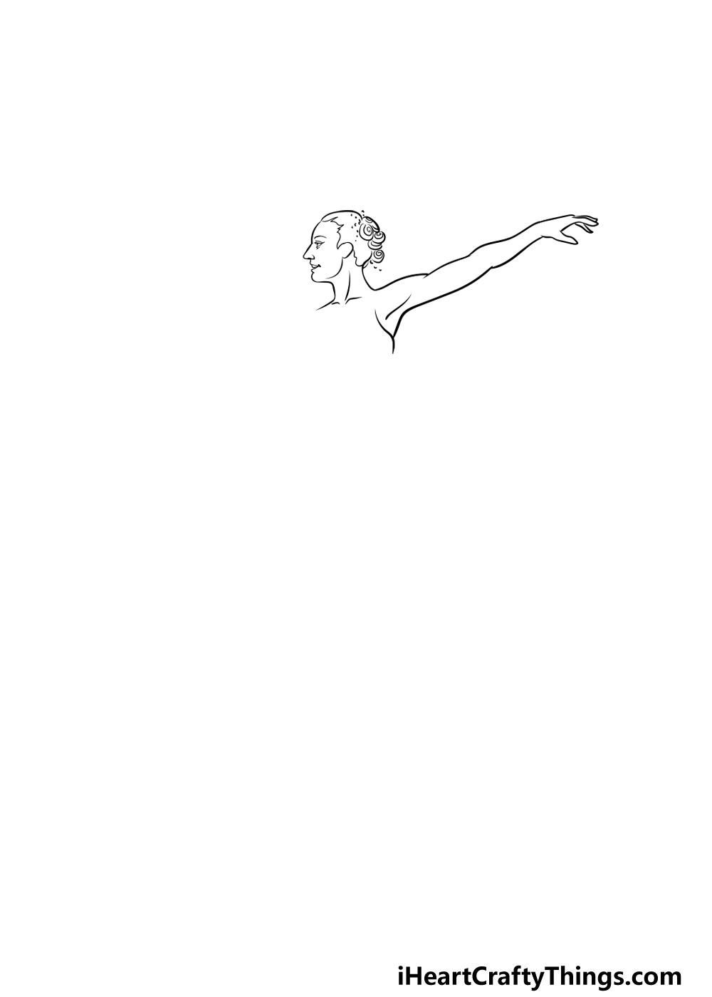 ballerina drawing step 2