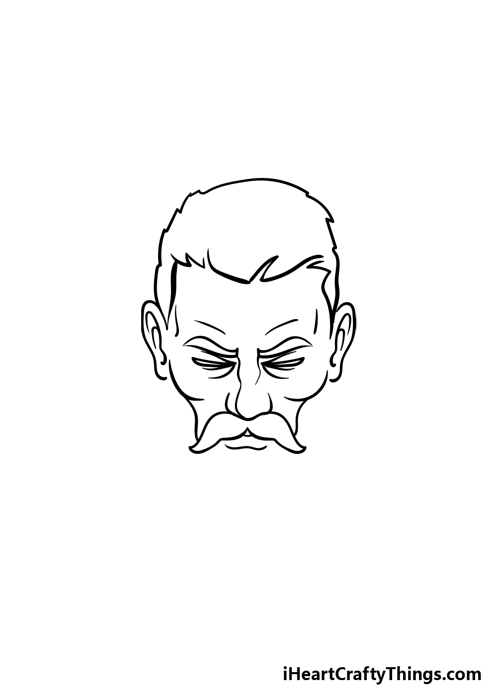 drawing a beard step 2