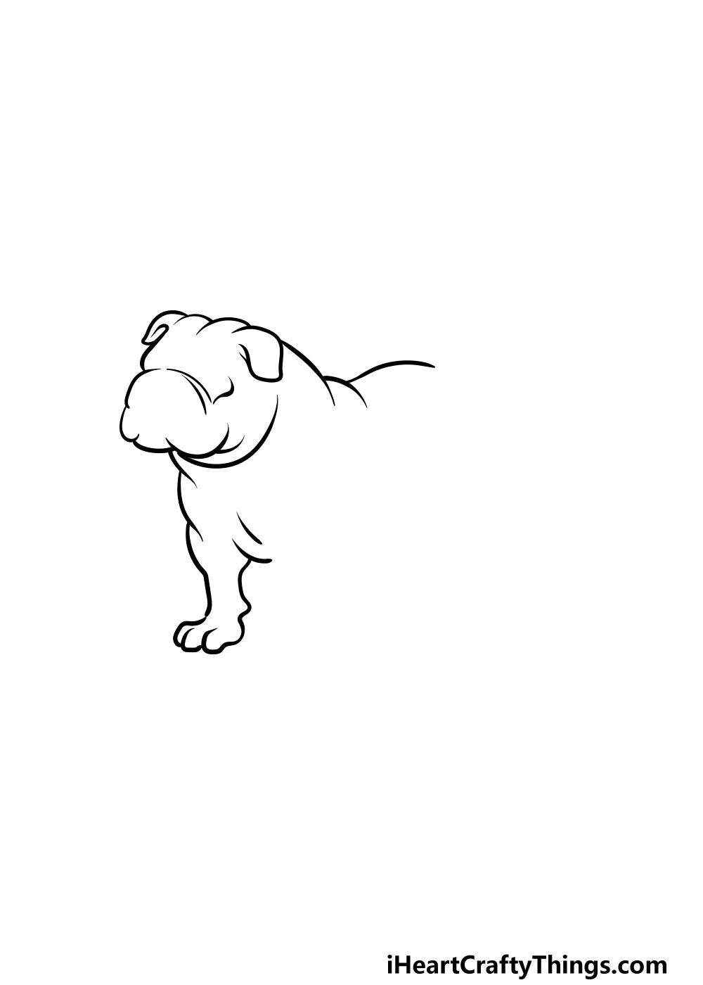 drawing bulldog step 2