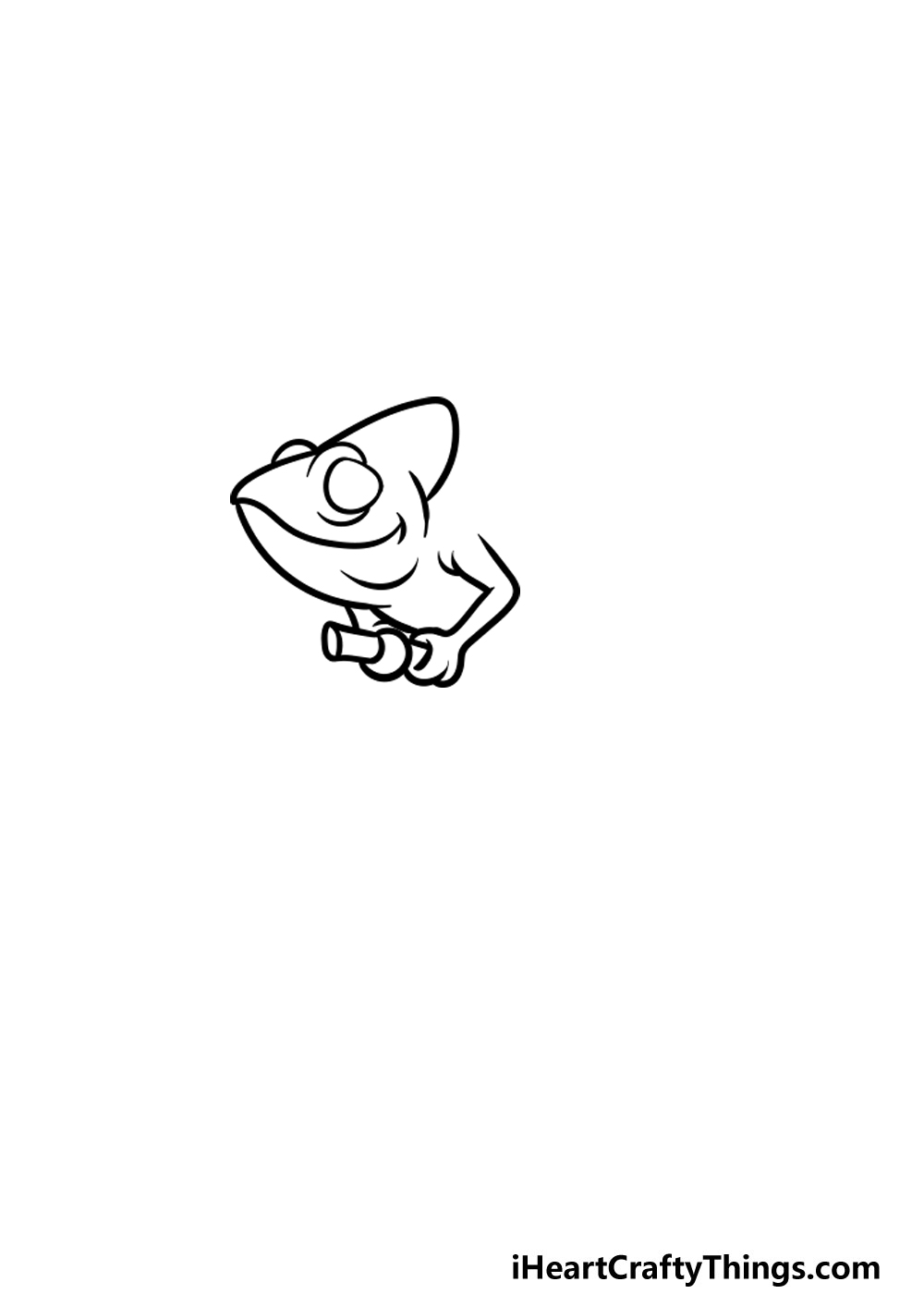 drawing a chameleon step 2