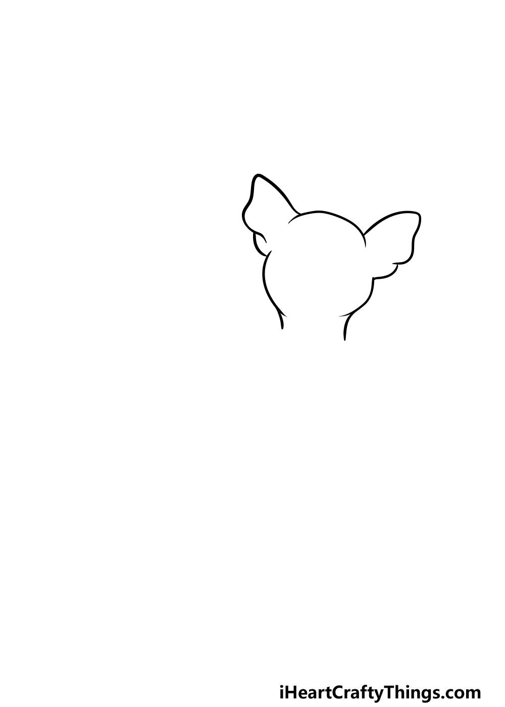 drawing a chihuahua step 2