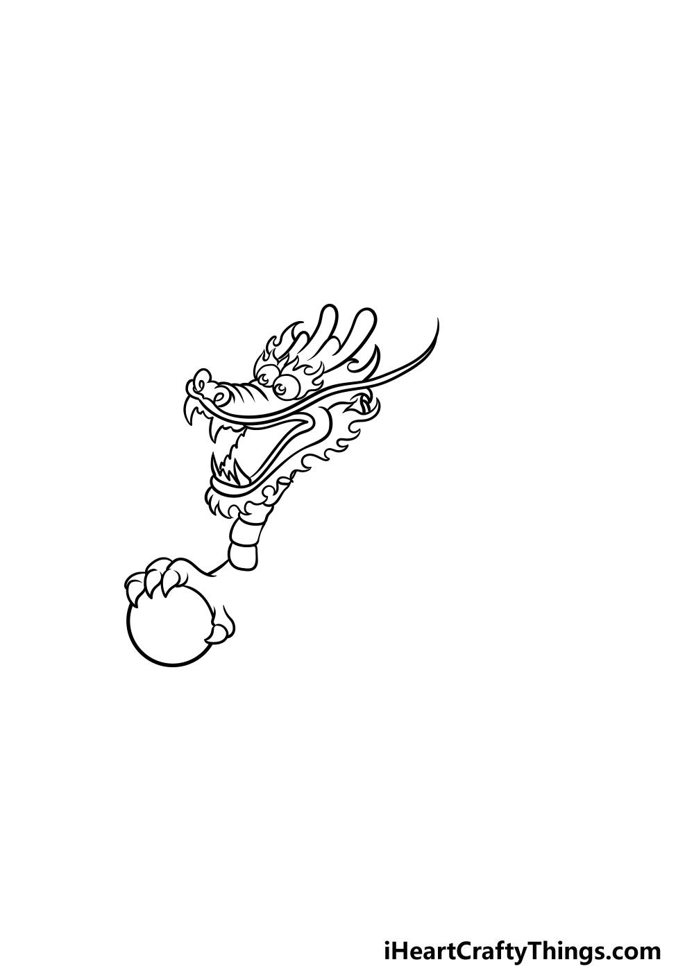 drawing Chinese dragon step 2