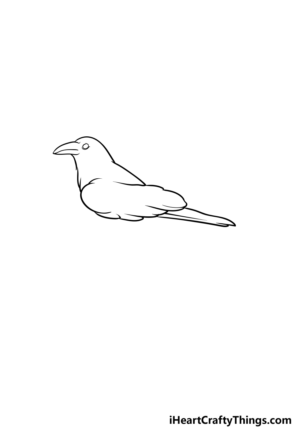 drawing a crow step 2