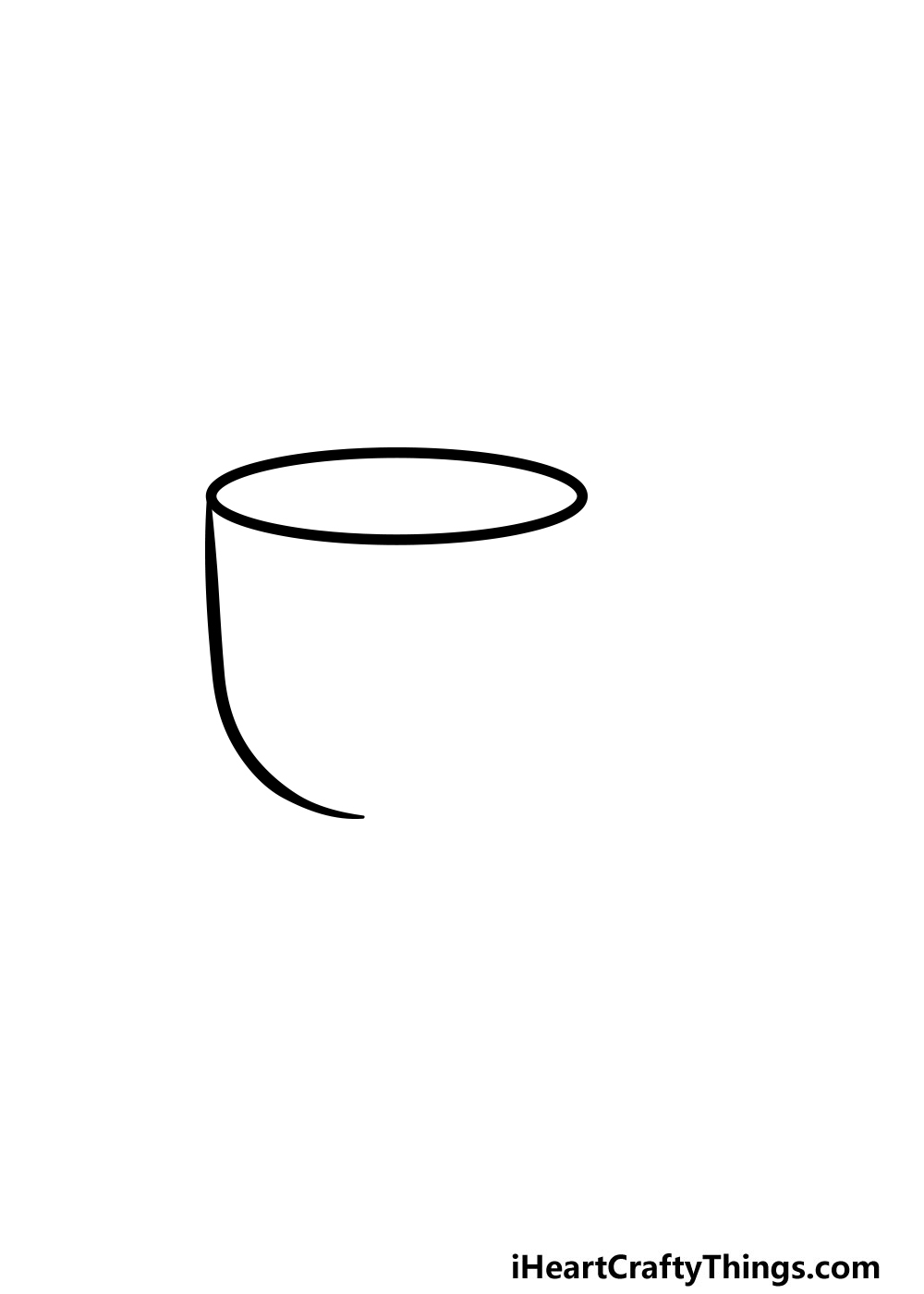 drawing a cup step 2