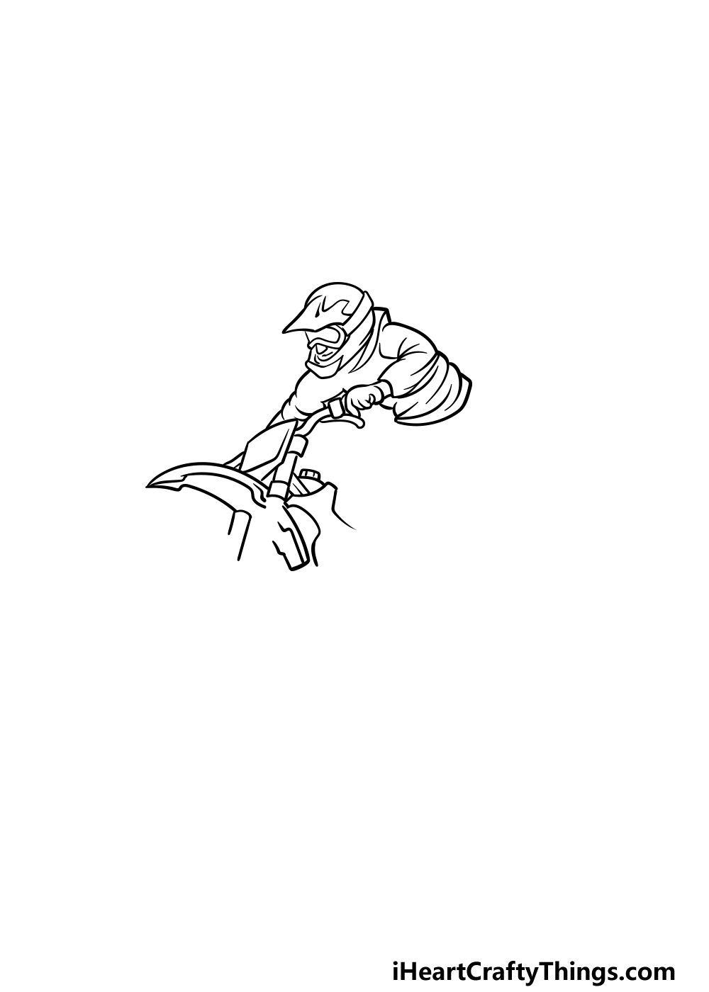 drawing a dirt bike step 2