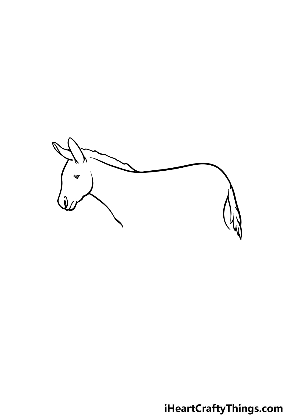 drawing a donkey step 2