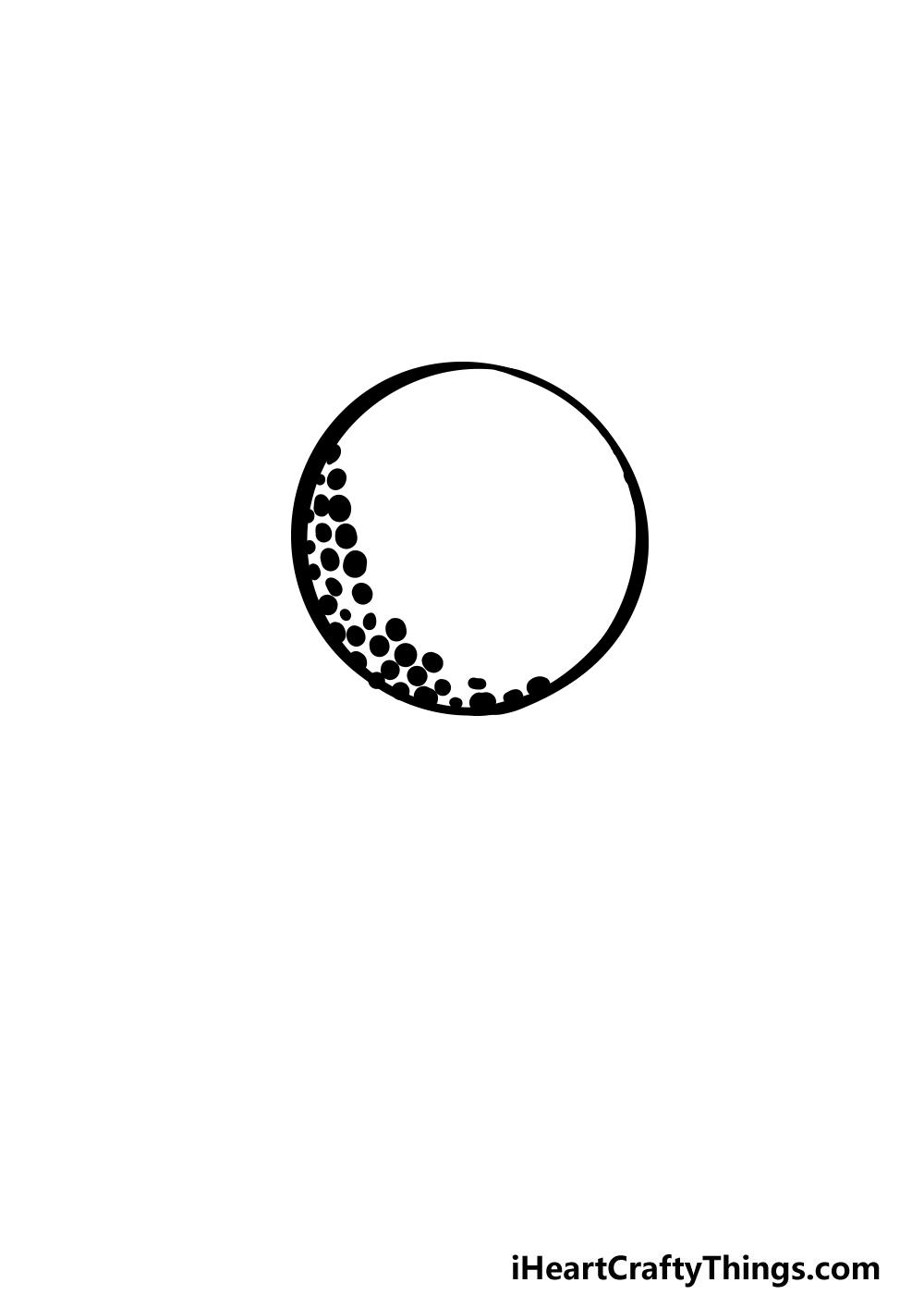 drawing a golf ball step 2