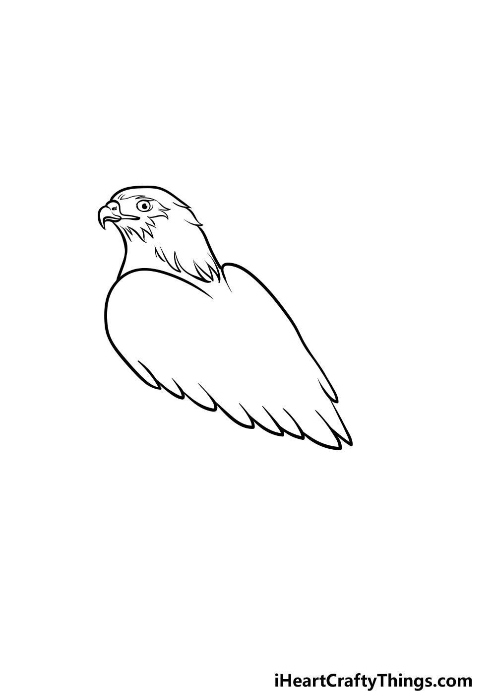 dibujando un halcón paso 2