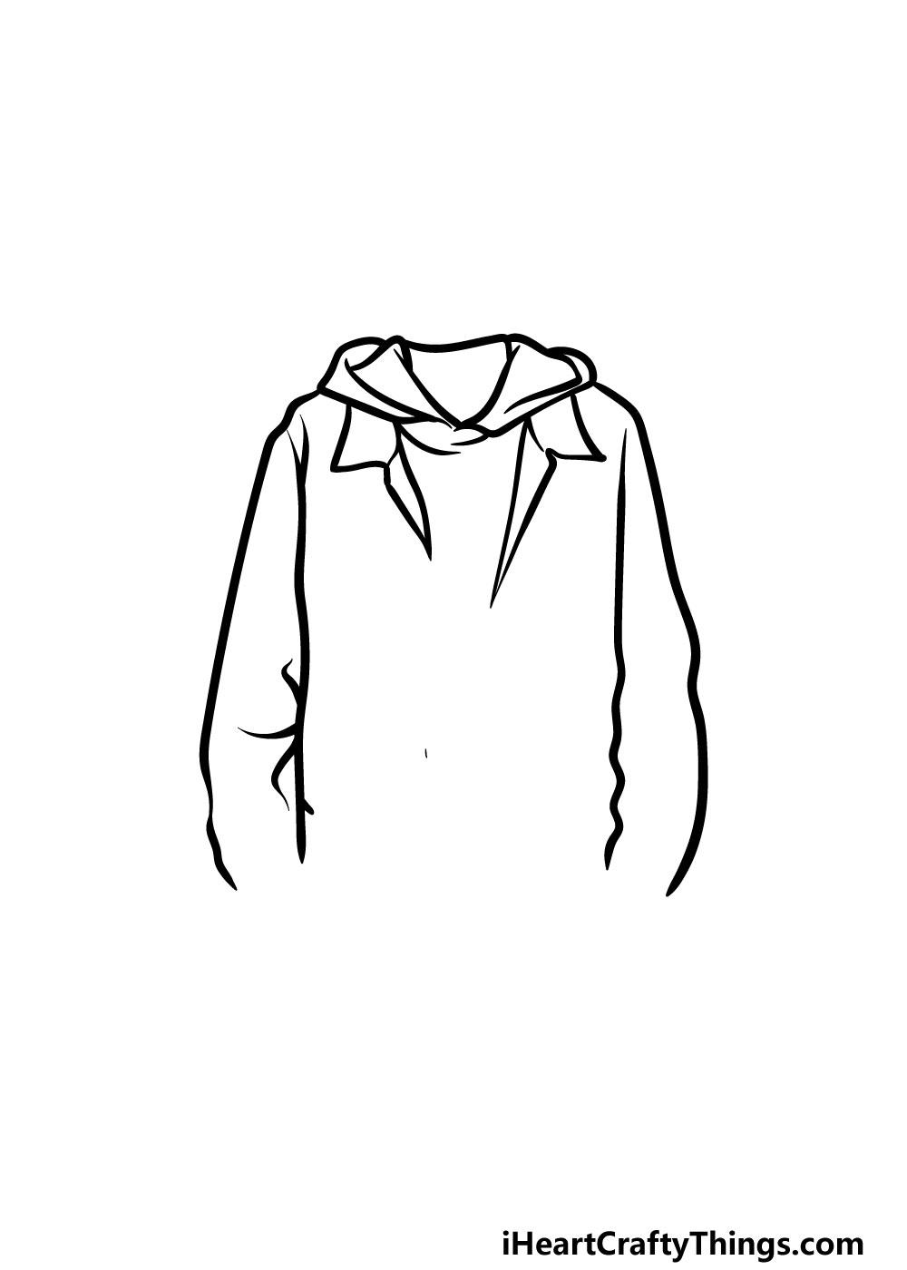 drawing a jacket step 2