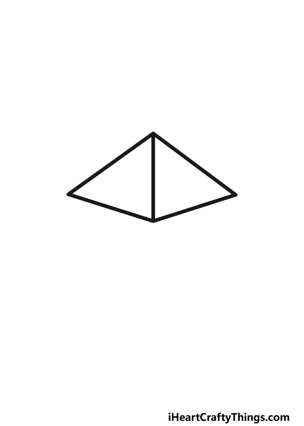 drawing a pentagon step 2