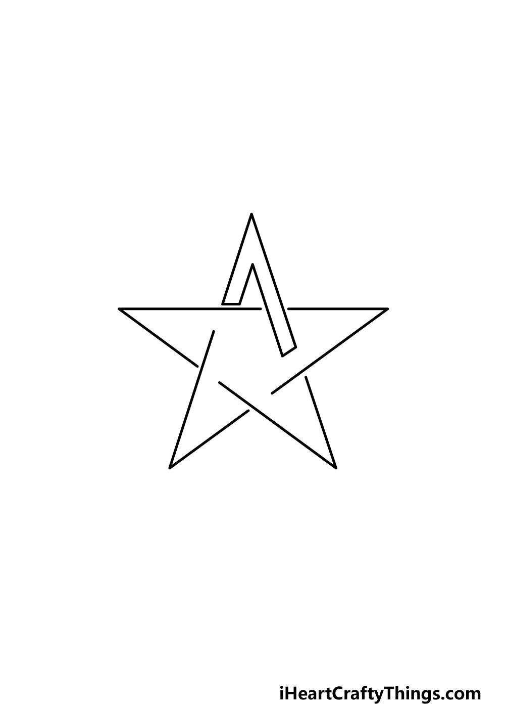 drawing a pentagram step 2