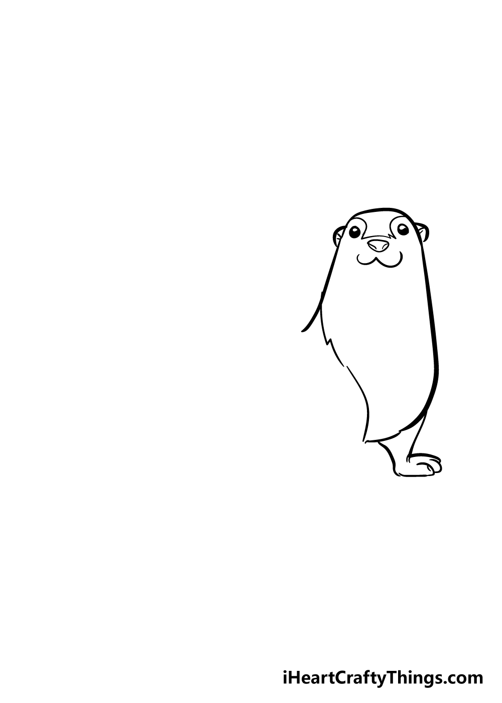 otter drawing step 2