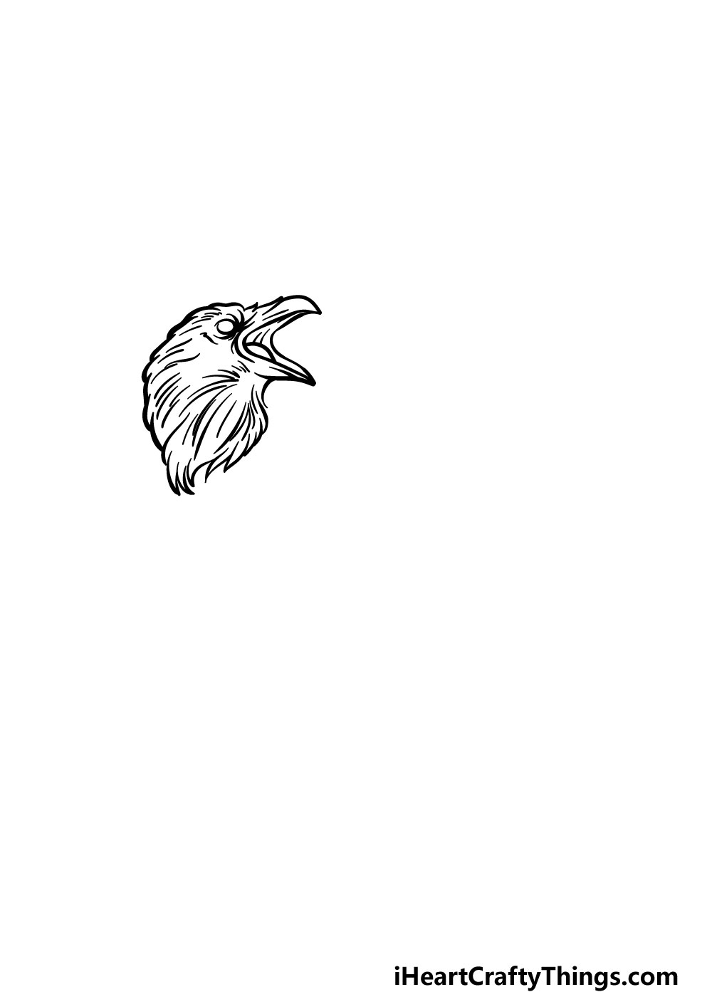 drawing a raven step 2