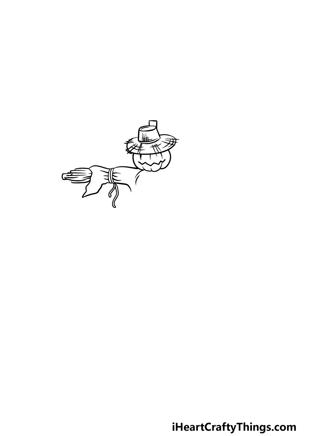 drawing a scarecrow step 2
