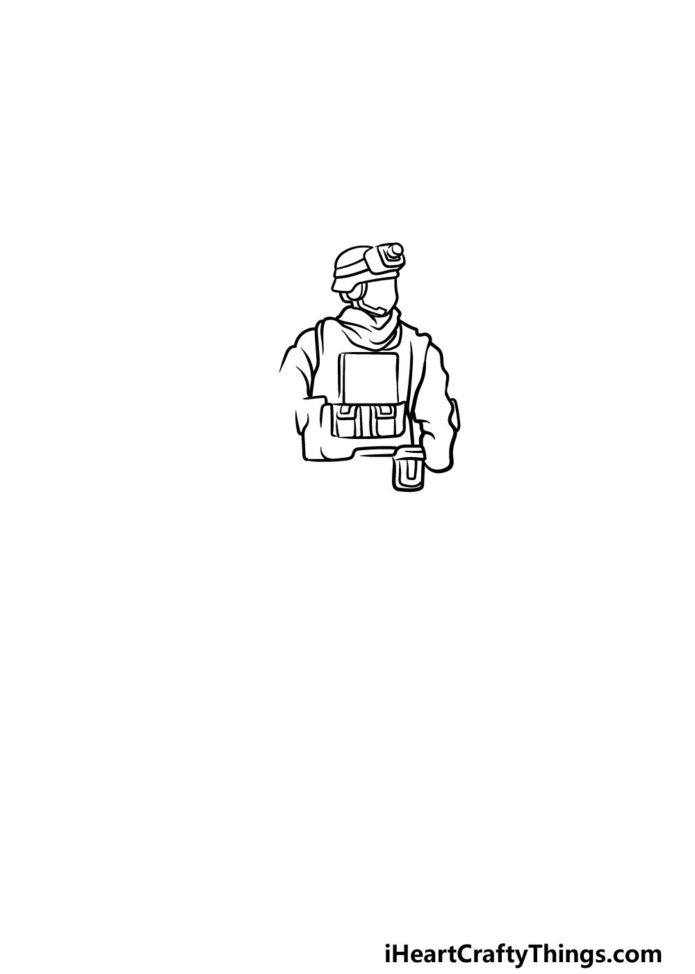 drawing a soldier step 2