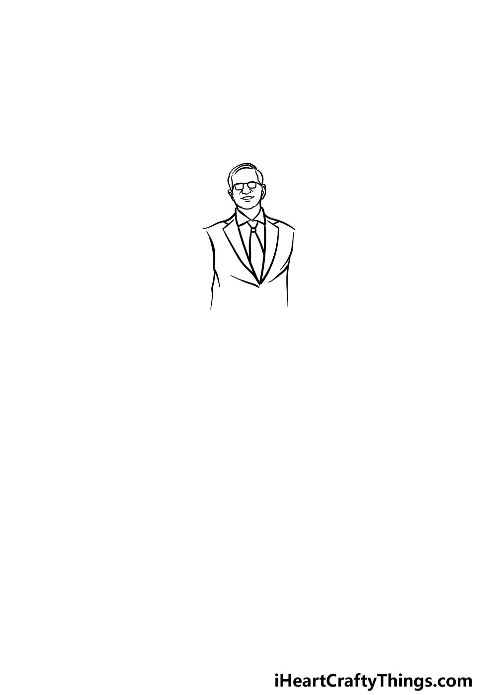 drawing a suit step 2