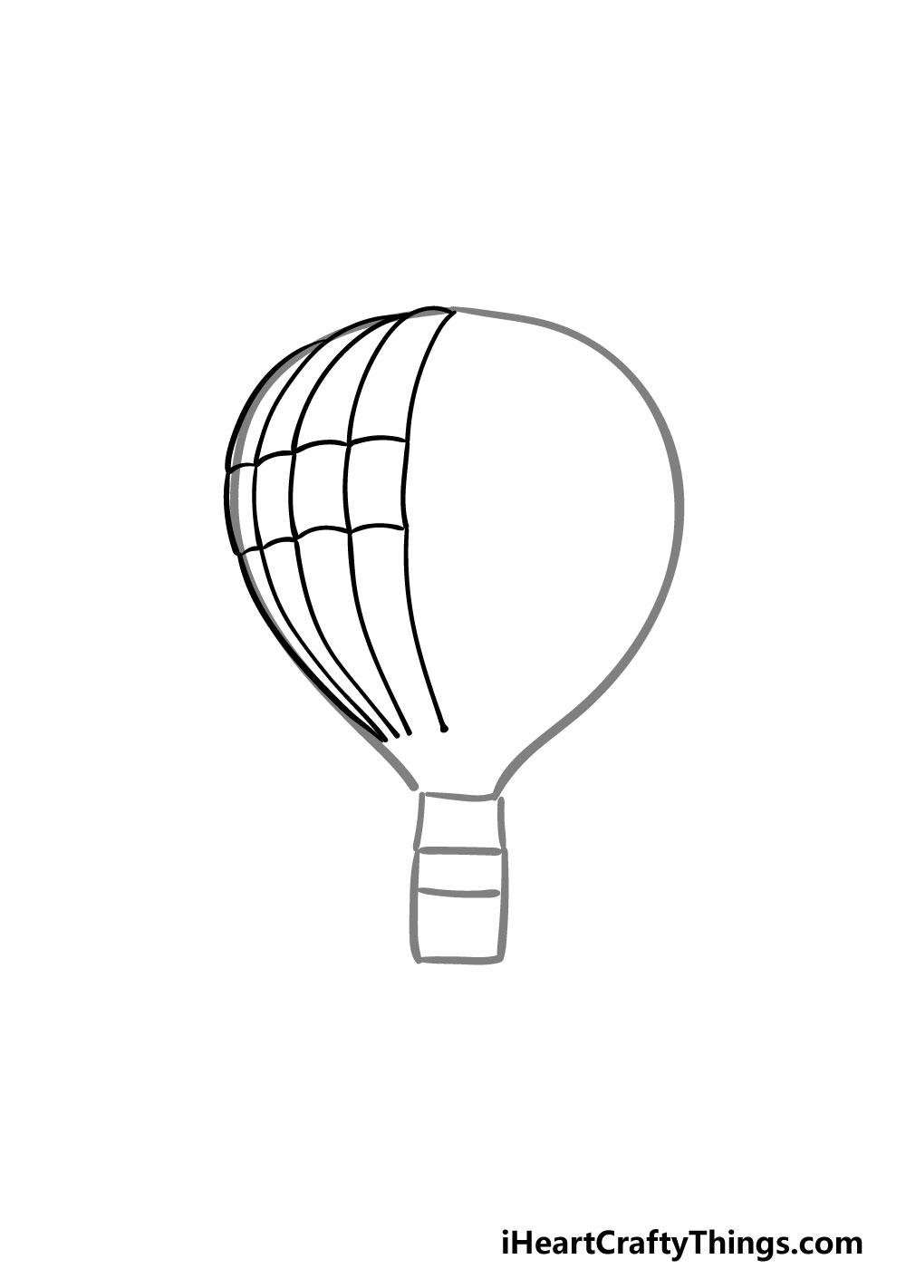 drawing a hot air balloon step 2
