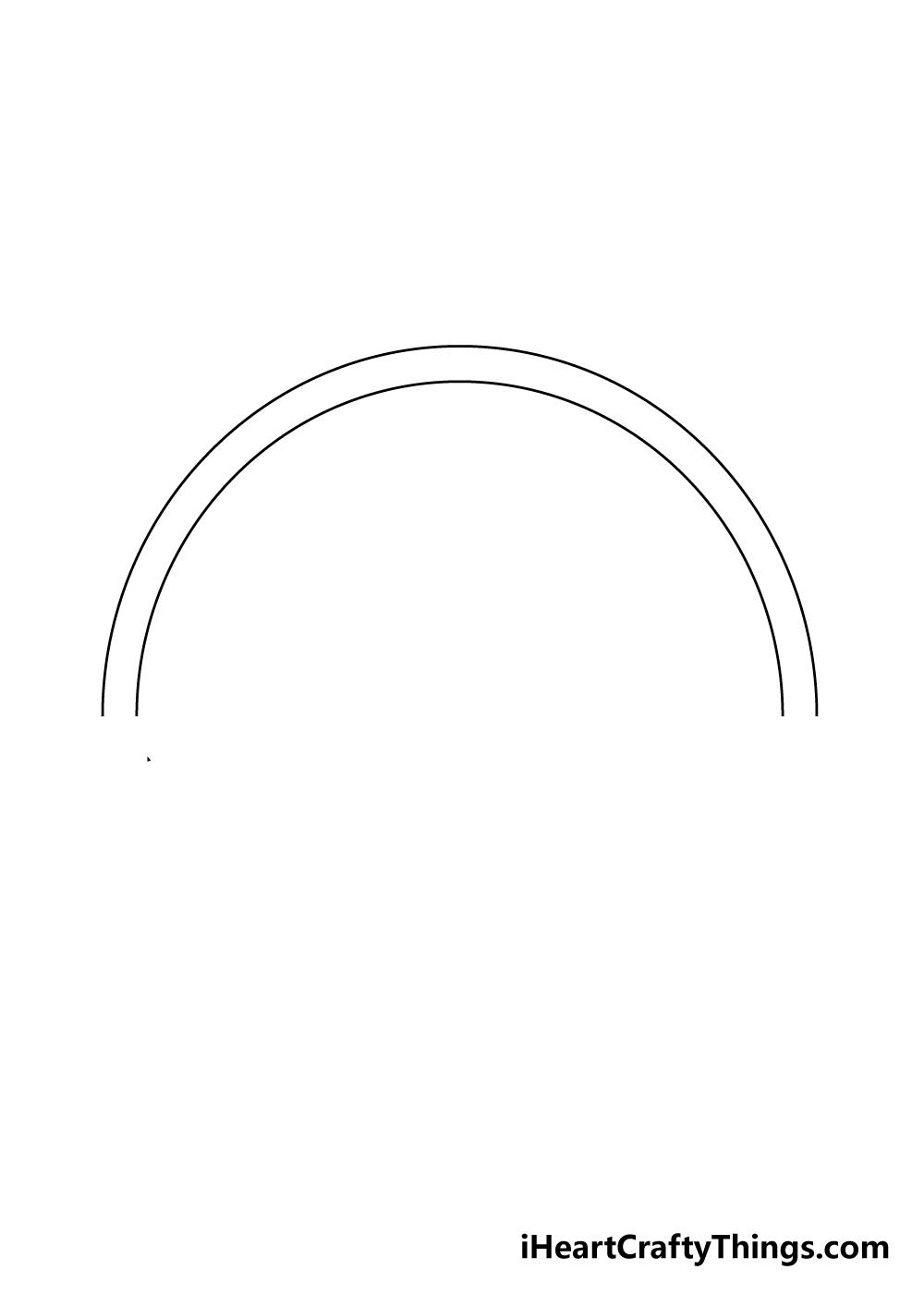 drawing a rainbow step 2