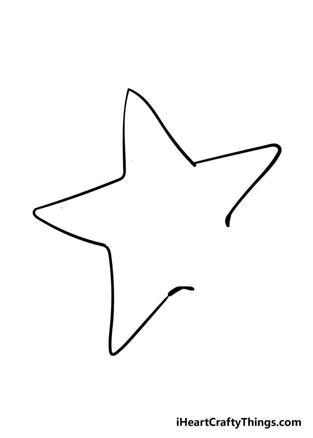 vẽ sao biển bước 2