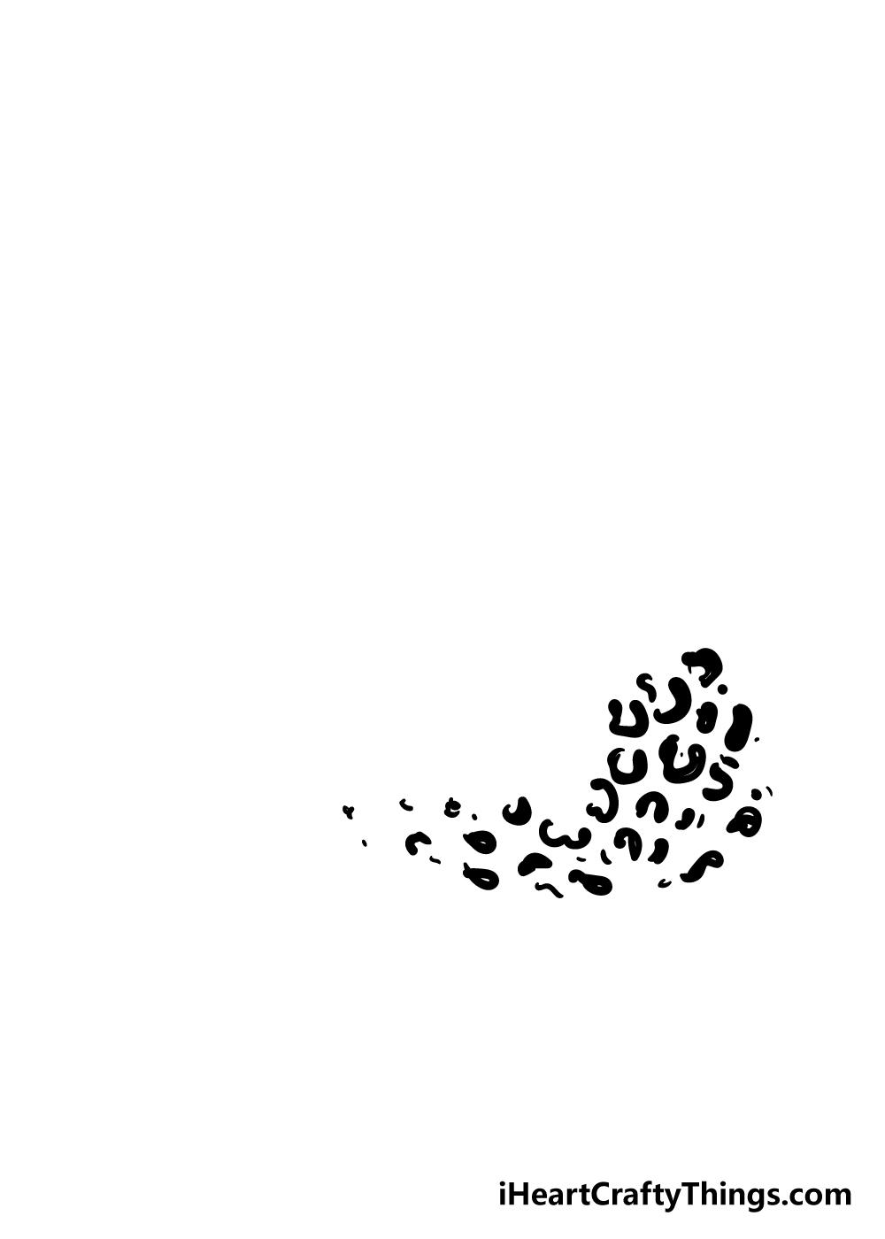 cheetah print drawing step 2