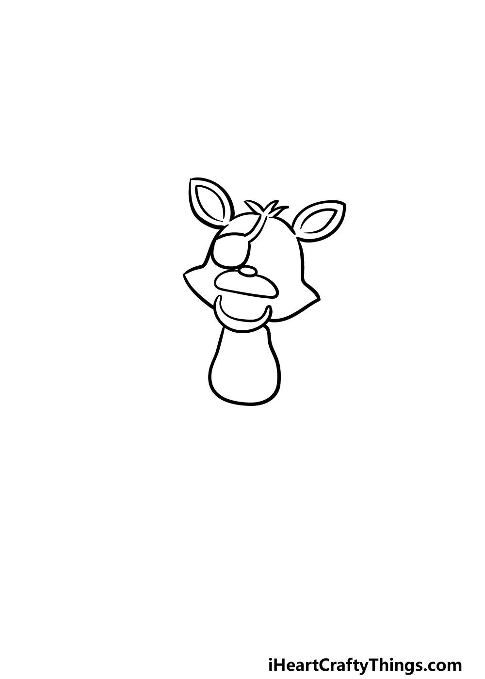 drawing foxy step 2